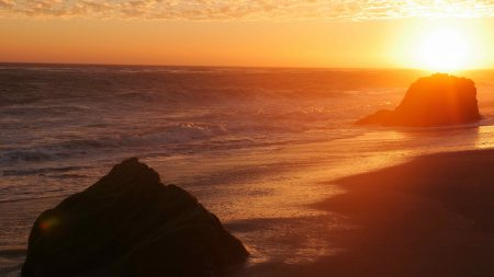 The famous Leo Carrillo Beach sunsets